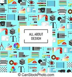 芸術, アイコン, テキスト, ベクトル, デザイン, 背景, デジタル, 場所