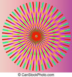 芸術, カラフルである, 抽象的, illustratio, バックグラウンド。, ベクトル, psychedelic