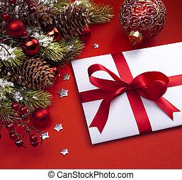 芸術, クリスマス, カード, 挨拶