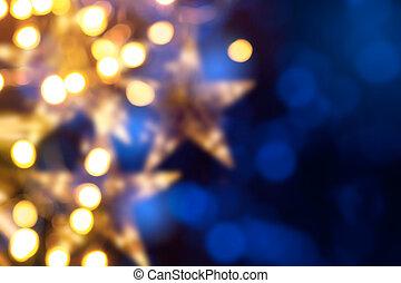 芸術, クリスマス, ホリデー, ライト, 背景