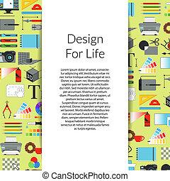 芸術, ベクトル, デザイン, 背景, デジタル, リボン