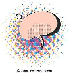 芸術, ポンとはじけなさい, ベクトル, スピーチ, レトロ, テンプレート, 漫画, 泡