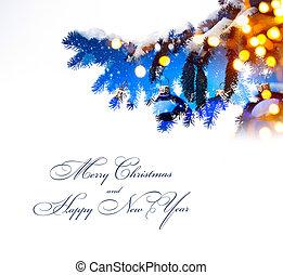 芸術, ライト, 木, ホリデー, 背景, クリスマス