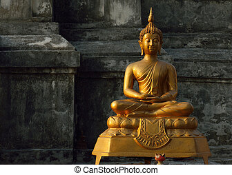 芸術, 仏教, アジア, 仏, 像, 彫刻, 寺院