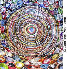 芸術, 作られた, から, リサイクルされる, 雑誌