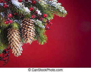 芸術, 保護される, 木, クリスマス, 雪