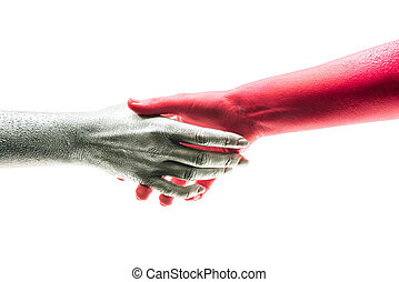 芸術, 取引, 人々, deal., 協力, 握手, concept., 2, バックグラウンド。, 白, 楽しむ, 幸せ, よい, 合意, 交渉, ビジネス, 手, workmate, 握手, 友情, 仕事, 契約, 動揺