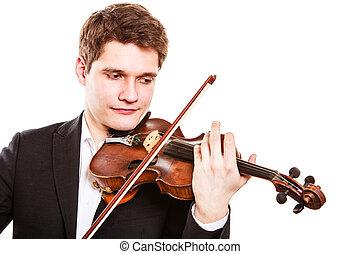 芸術, 古典である, バイオリン奏者, 音楽, violin., 遊び, 人
