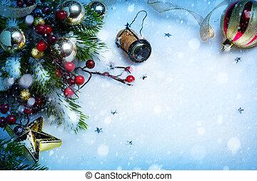 芸術, 年, 背景, 新しい, パーティー, クリスマス