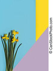 芸術, 幾何学, バックグラウンド。, デザイン, 最小である, 花, 色