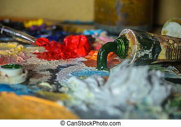 芸術, 抽象的な絵, バックグラウンド。