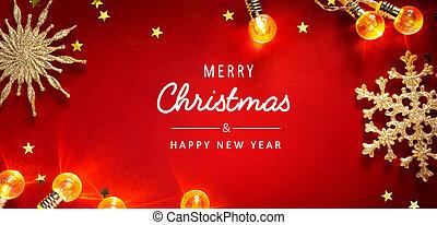 芸術, 招待, ホリデー, クリスマスの季節, カード, 背景, 旗, 挨拶, ∥あるいは∥