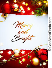 芸術, 挨拶, ホリデー, 赤, background;, クリスマスカード