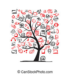 芸術, 木, それ, 装置, デザイン, あなたの