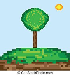芸術, 木, ピクセル