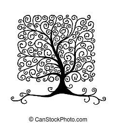 芸術, 木, 美しい, ∥ために∥, あなたの, デザイン