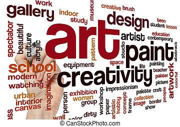 芸術, 概念, 単語, 雲