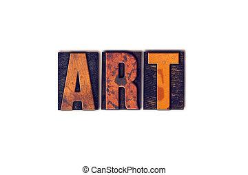 芸術, 概念, 隔離された, 凸版印刷, タイプ