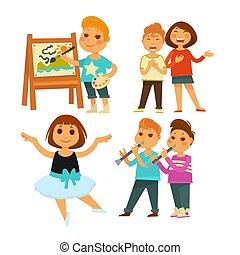 芸術, 歌うこと, バレエ, ∥あるいは∥, 絵, 子供