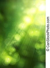芸術, 緑になる, 自然, 春, 抽象的, 背景
