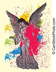 芸術, 翼, ベクトル, 像, 鳥, マリア
