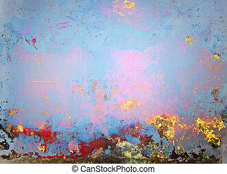 芸術, 背景, ペンキ, 絵, 抽象的, 古い, 青, halftone, 旗, カラフルである, デザイン, 型, バックグラウンド。