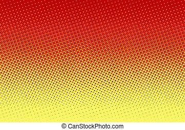 芸術, 黄色, halftone, ポンとはじけなさい, 背景, 赤