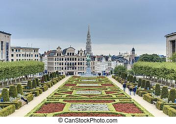 芸術, belgium., ブリュッセル, 山