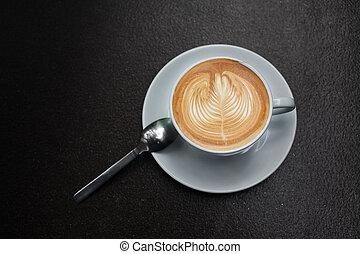芸術, coffee., latte