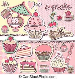芸術, cupcake