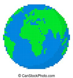 芸術, illustration., ベクトル, デザイン, earth., ピクセル