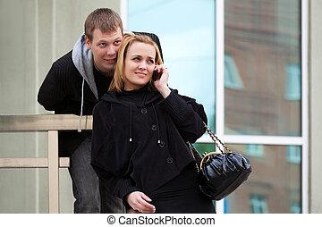 若い人々, 呼出し, 上に, ∥, 携帯電話