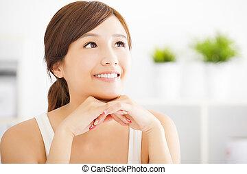 若い女性, アジア人, 美しい