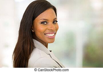 若い女性, オフィス, ビジネス, アフリカ