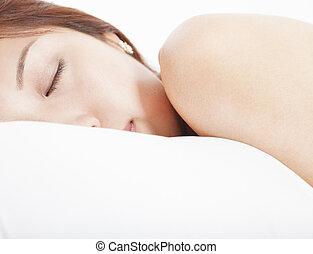 若い女性, 中に, 睡眠
