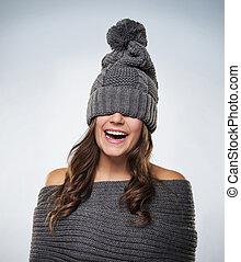 若い女性, 楽しい時を 過しなさい, ∥で∥, 羊毛, 衣服