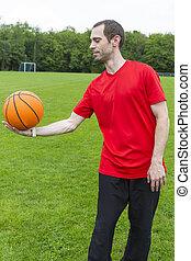 若い, バスケットボール, 人