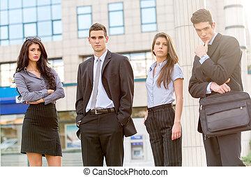 若い, ビジネス チーム