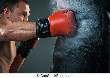若い, ボクサー, ボクシング