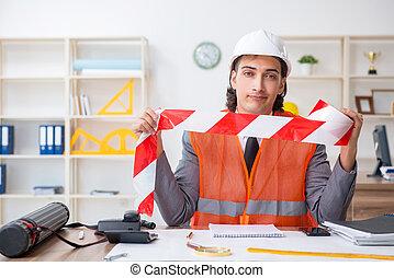 若い, 仕事, 建築家, オフィス, マレ