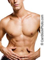 若い, 健康, 筋肉, 人