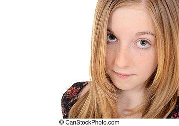 若い 女の子, 子供, 肖像画
