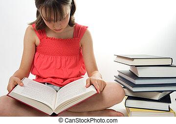 若い 女の子, 読書