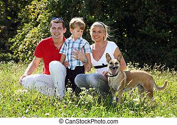若い 家族