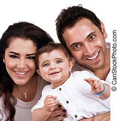 若い 家族, 幸せ