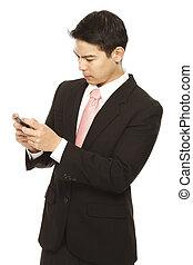 若い 専門家, texting