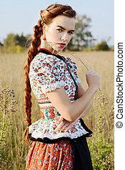 若い, 小農の女性