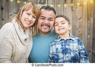 若い, 混合された 競争, 家族の 肖像画, 外