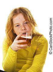 若い, 飲むこと, 子供
