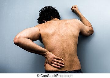 若者, ∥で∥, ひどい, backpain, から, 坐骨神経痛